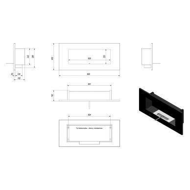 KRATKI DELTA 2 juodas horizontalus biožidinys 5