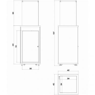 KRATKI PATIO M dujinis lauko židinys su pultu (spalvų pasirinkimai) 3