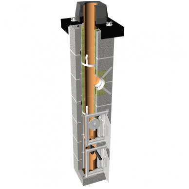 Tona Tec Plus vieno kanalo dūmtraukis su ventiliacija, ø160 mm