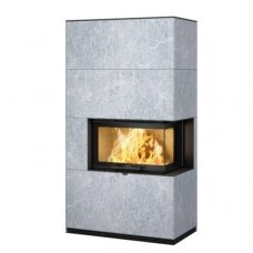 CONTURA i41T plieninis židinio ugniakuras su kampiniu stiklu