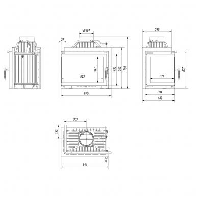 KRATKI SIMPLE M/S 8 kampinis židinys (su pasirinkimais) 6