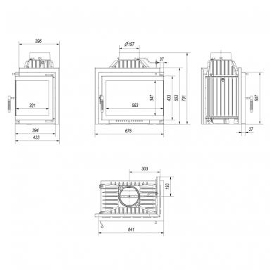 KRATKI SIMPLE M/S 8 kampinis židinys (su pasirinkimais) 5