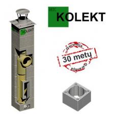 MK Kolekt vieno kanalo dūmtraukis su ventiliacija, ø180 mm