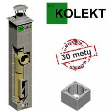 MK Kolekt vieno kanalo dūmtraukis su vėdinimu, ø200 mm