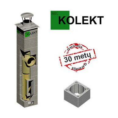 MK Kolekt vieno kanalo dūmtraukis, ø200 mm
