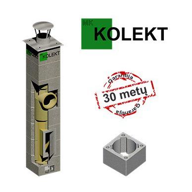 MK Kolekt vieno kanalo dūmtraukis su ventiliacija, ø160 mm