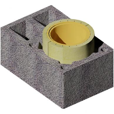 MK Kolekt vieno kanalo dūmtraukis su ventiliacija, ø180 mm 2