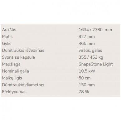 NORDPEIS DAVOS P židinys (su pasirinkimais) 5