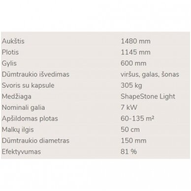 NORDPEIS FARGO židinys (su pasirinkimais) 7