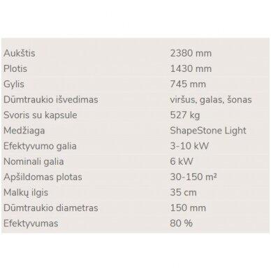 NORDPEIS FINSE aukštas židinys (su pasirinkimais) 8
