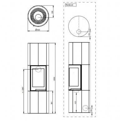 NORDPEIS RONDA H200 židinys (su pasirinkimais) 6