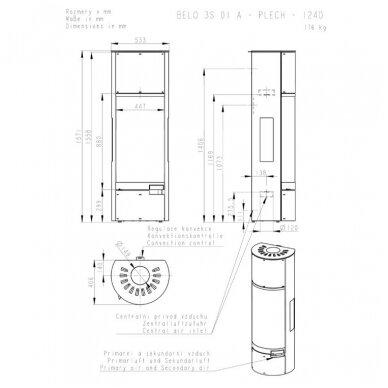 ROMOTOP BELO 3S 01 A aukšta akumuliacinė krosnelė 10