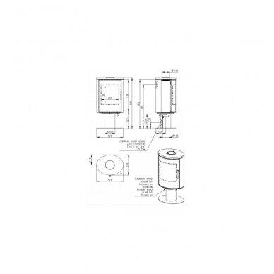 ROMOTOP LAREDO T01B12 (90901) krosnelė su keramine apdaila 2