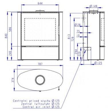ROMOTOP NAVIA G 03 plieninė krosnelė 2