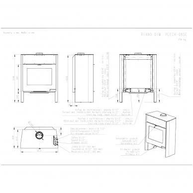 ROMOTOP RIANO 01 W krosnelė su šilumokaičiu 4