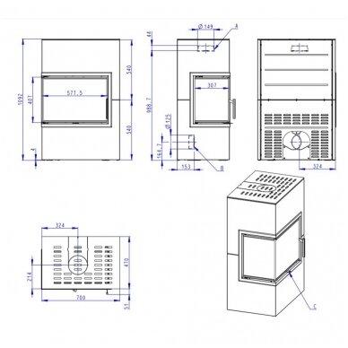ROMOTOP VARIANT LN/RN 03 krosnelė (su pasirinkimais) 4