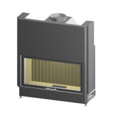SPARTHERM VARIA Bh 120-4S plieninis židinio ugniakuras tonuotais stiklo kraštais