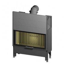 SPARTHERM VARIA M-100h-4S plieninis ugniakuras su tonuotais stiklais ir juodais šamotais