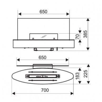 SPARTHERM EBIOS - FIRE ELIPSE WALL MINI biožidinys (su pasirinkimais) 4