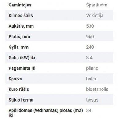 SPARTHERM ELIPSE Z biožidinys (su pasirinkimais) 4