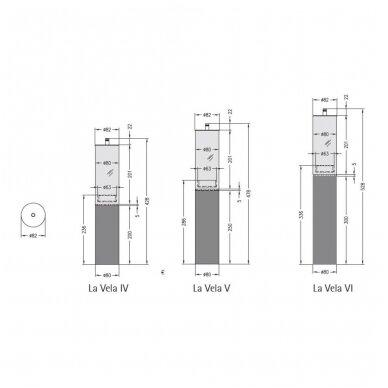SPARTHERM LA VELA MIDI VI biožidinys - žvakė (su pasirinkimais) 4