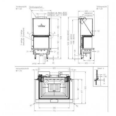 SPARTHERM PREMIUM A-3RL-60h plieninis židinio ugniakuras (su pasirinkimais) 4