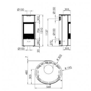 SPARTHERM SELECTION SENSO L plieninė krosnelė su juodais šonais 3