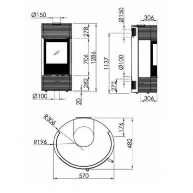 SPARTHERM SENSO L FASHION RLU krosnelė su betono apdaila 4