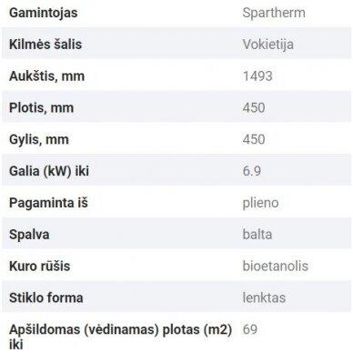 SPARTHERM TOWER biožidinys (su pasirinkimais) 7