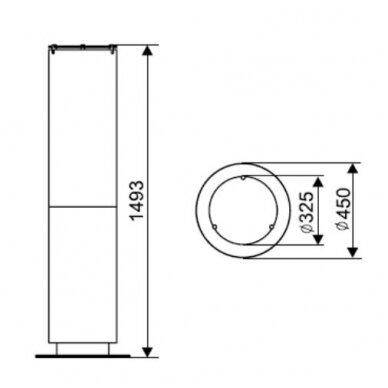 SPARTHERM TOWER biožidinys (su pasirinkimais) 6