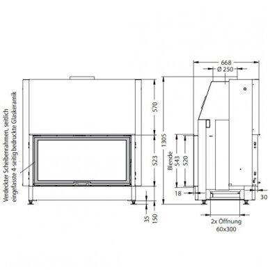 SPARTHERM VARIA B-FDh STANDARD 4S plieninis židinio ugniakuras 3