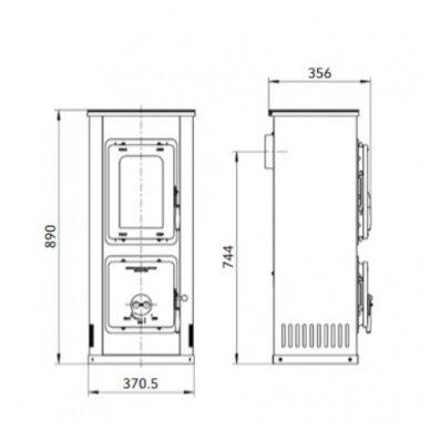 THORMA MILANO II plieninė krosnelė (su pasirinkimais) 5