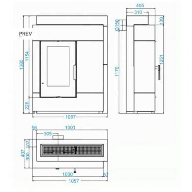 Židinio komplektas HAAS+SOHN PINUS II 2